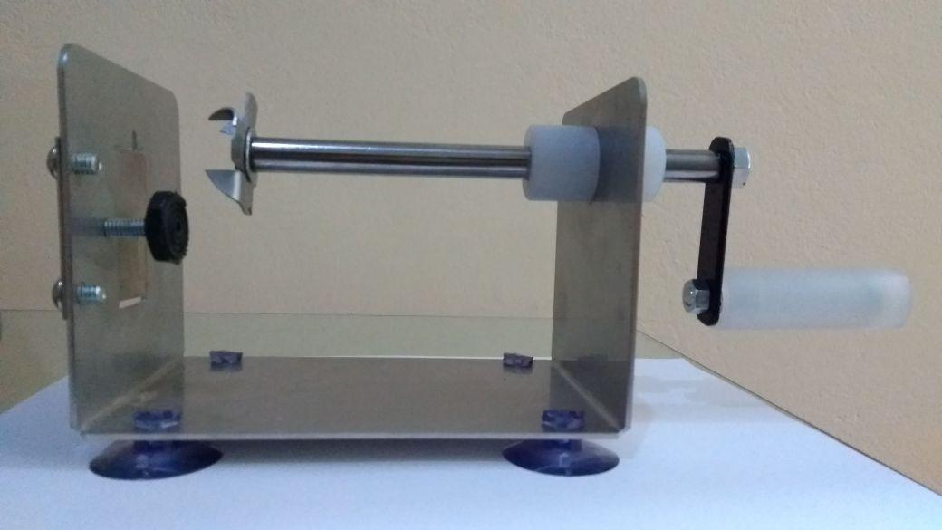 máquina de cortar batata espiral inox